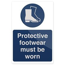 Fixman Protective Footwear Must Be Worn Sign 200 x 300mm Rigid - Protective -  protective footwear must worn x 300mm rigid sign 200 fixman 863274