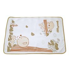 [60*80cm] Cute Bear Waterproof Reusable Pads Baby Crib Sheets, D