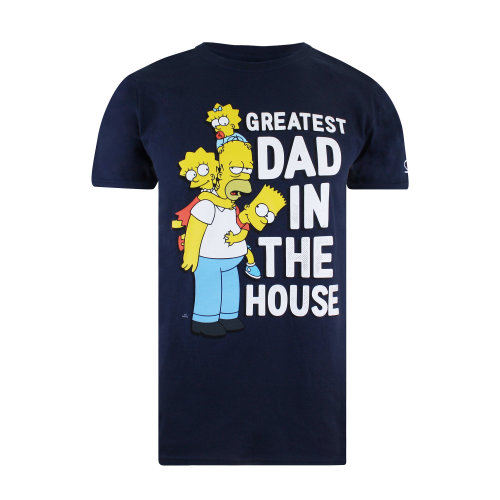 The Simpsons Greatest Dad Mens T-shirt Navy