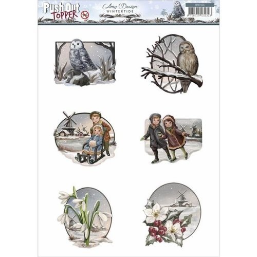 Find It Trading SB10125 Amy Design Wintertide Topper Sheet