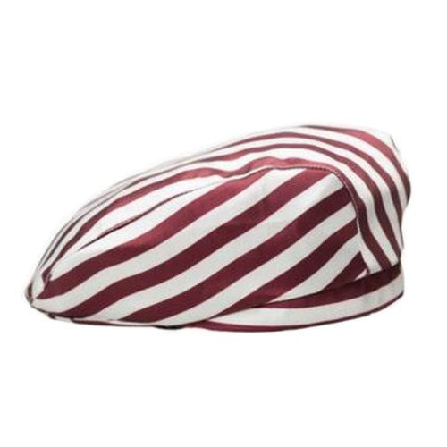 [Stripe-2] Kitchen Chef Hat Restaurant Waiter Beret Bakery Cafes Beret