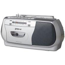 Groov-e Retro Series Portable Cassette Player with Radio - Silver (GVPS575SR)
