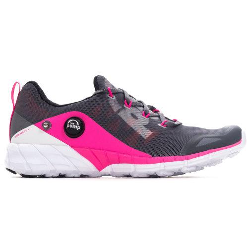 Reebok ZPump Fusion Womens Running Fitness Training Trainer Shoe Grey/Pink