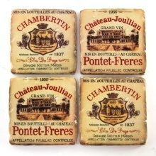 Ceramic Coasters Wine Labels