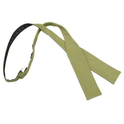 Olive Green Ottoman Wool Batwing Self Tie Bow Tie