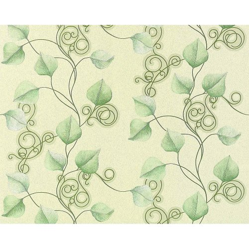 EDEM 950-28 floral wallpaper non-woven luxury flowers leafs green | 10.65 sqm