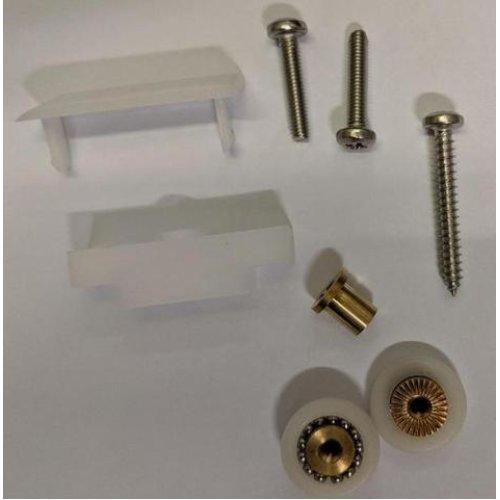 Shower Door Roller /Rollers/ Wheels / Runners Small Wheel Diameter 19mm, Top or Bottom Fixing Kit MS4