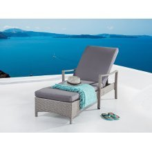 Adjustable Wicker Lounge Chair - VASTO