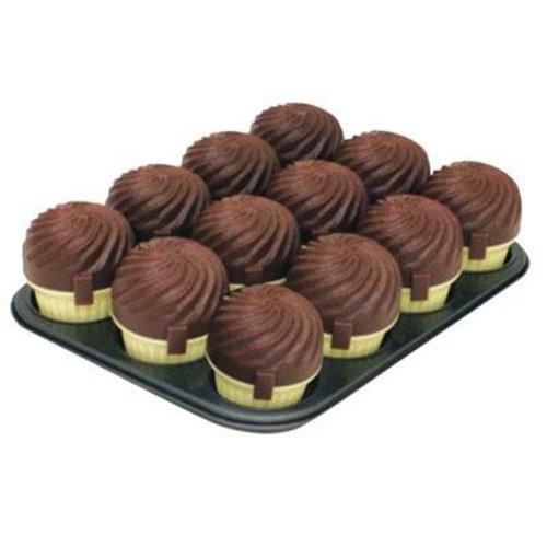Range Kleen STG32B14M12C 12 Cup Muffin Pan - Chocolate