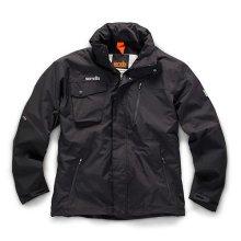 Scruffs Pro Waterproof Jacket Black (All Sizes) Men's Fleece Lined Work Coat