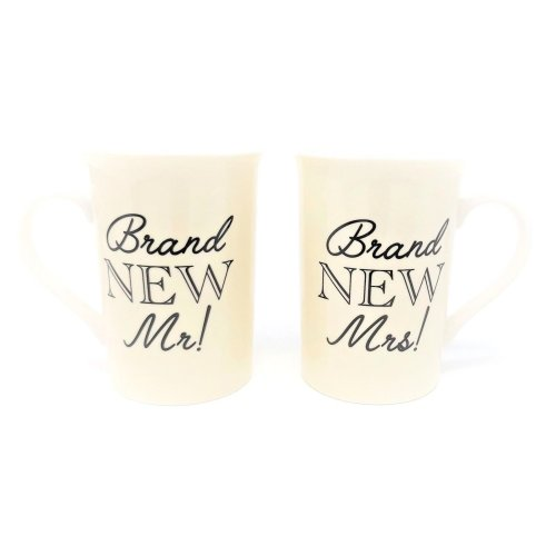 Brand New Mr & Mrs Mugs Wedding Marriage Gift Cups Present Couple Husband & Wife