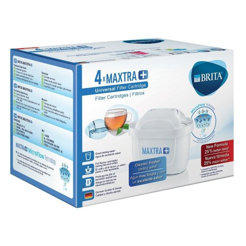 BRITA MAXTRA+ Water Filter Cartridges - Pack of 4 (EU Version)