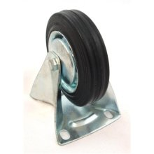 """4"""" (100mm) Rubber Fixed Castor Wheels Trolley Furniture Castors"""