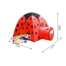 Cute Beatle Kids Indoor/Outdoor Play Tent with Tunnel(3 to 6 Years Old, Red)