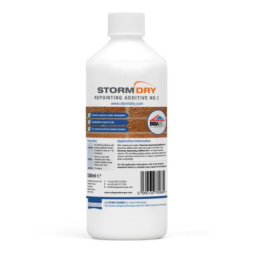 Stormdry Repointing Additive No1 - Wall Repointing - Breathable Protection Against Flooding & Rain Penetration