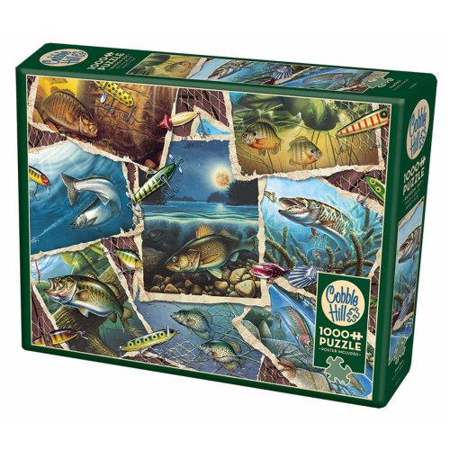 CBL80209 - Cobblehill Puzzles 1000 pc - Fish Pics