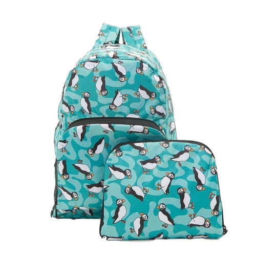 PUFFIN print expandable Backpack/Rucksack