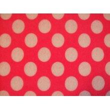 "Pink with White Spots Spotty Polka Dot Felt. 9"" x 12"
