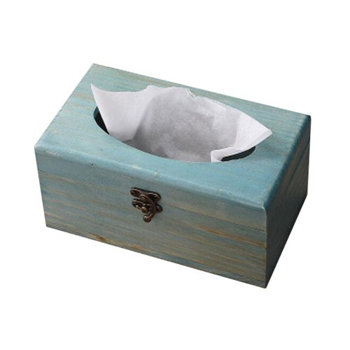Practical Retro Wooden Tissue Boxes Paper Pumping Box Convenient (c)