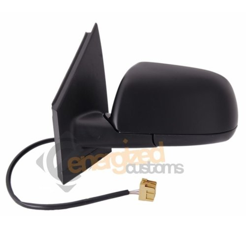 Vw Polo Mk5 2002-2005 Electric Wing Door Mirror Black Cover Passenger Side