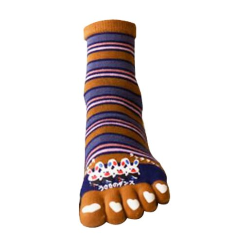 Tube Cartoon Toe Scoks Soft Cotton Gift Socks
