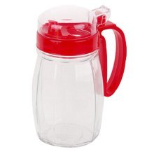 620ML Creative Kitchen Oil / Vinegar Cruet Square Glass Bottle Red
