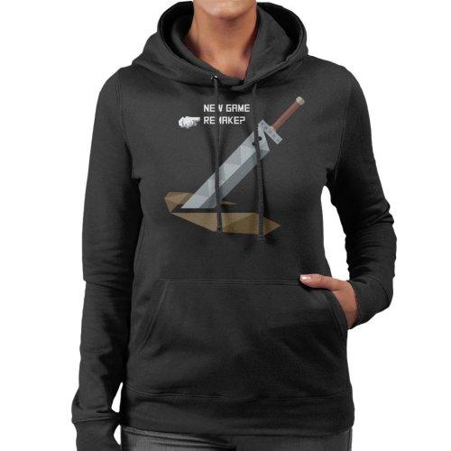 New Game Remake Final Fantasy VII Women's Hooded Sweatshirt
