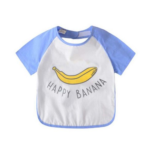 Comfortable Baby Waterproof Feeding Bib Apron, Banana, 90-100cm Height