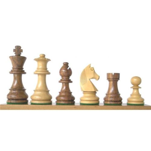 Chopra 30BF-1001BF3 30BF Boxwood French Knight Chess Piece, Black & Natural