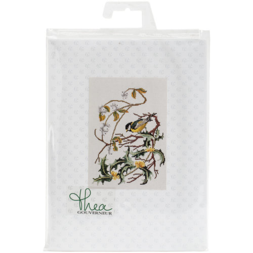 """Great Tit On Aida Counted Cross Stitch Kit-9.75""""X11.75"""" 16 Count"""