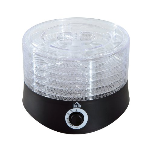 Homcom 5 Tier Fruit Dehydrator Electric Food Preserver 280w Adjustable Temperature Control