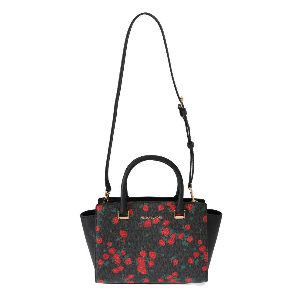 605299b58135 ... Michael Kors Handbags Black Red SELMA Leather Messenger Bag - 1 ...