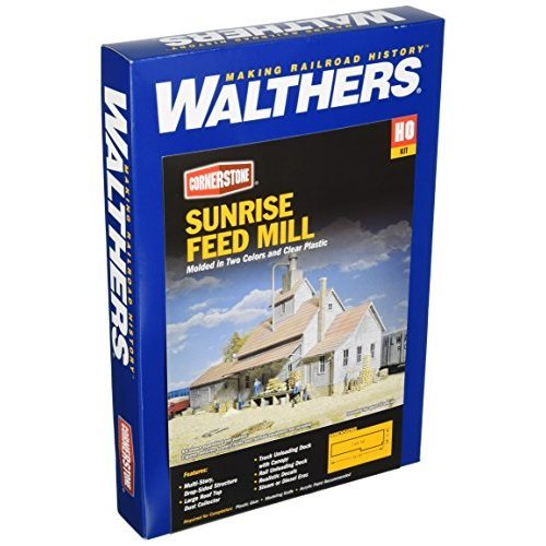 Walthers Cornerstone Series Kit HO Scale Sunrise Feed Mill
