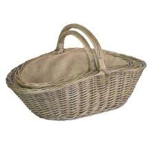 Set of 2 Antique Wash Harvesting Trug Baskets