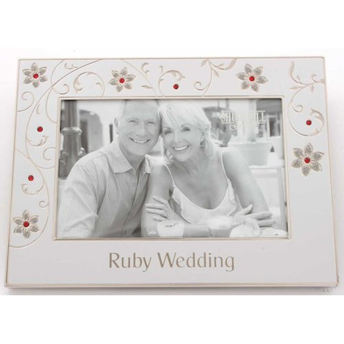 "Ruby Wedding 40th Anniversary 6"" x 4"" Photo Frame"