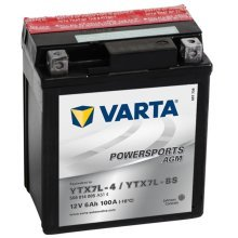 Varta AGM Battery 12 V 6 Ah YTX7L-4 / YTX7L-BS