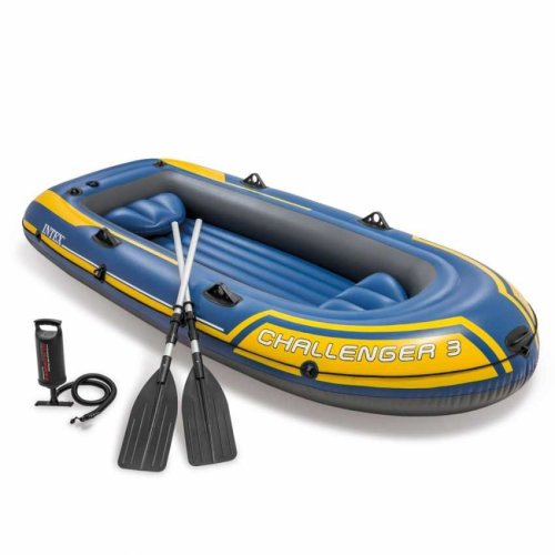 Intex 68370 Challenger 3 Inflatable Boat for Three People