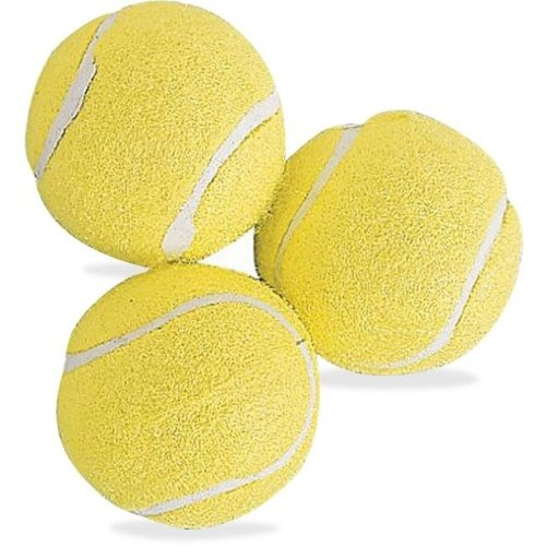 Rubber Tennis Balls, Yellow - Pack of 3