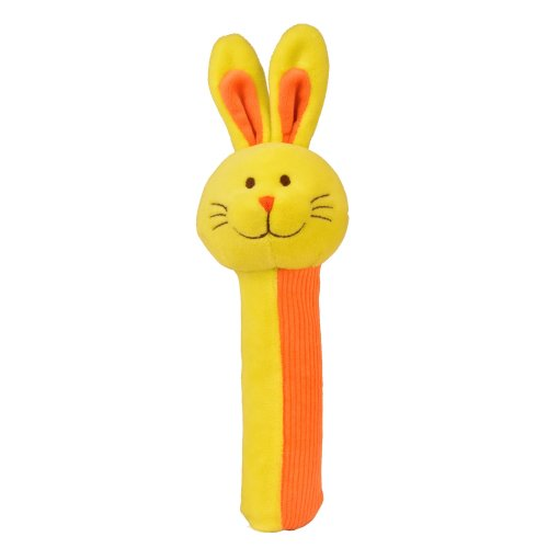 Rabbit Rattle and Squeaker Squeakaboo Toy