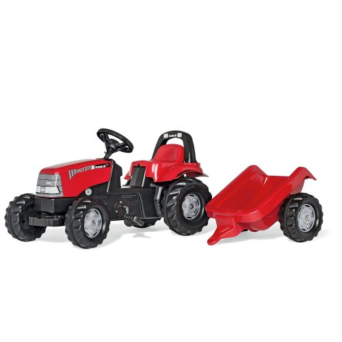 Rolly Kid Case CVX 1170 Tractor with Roll Bar and Trailer
