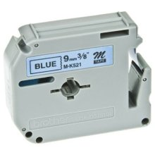 Brother M-K521BZ Black on blue M label-making tape