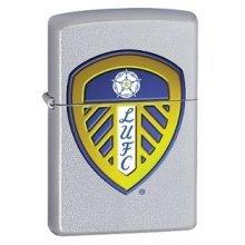 Leeds United Zippo Lighter - Fc Satin Chrome Windproof Brand New -  leeds united fc satin chrome windproof lighter brand new