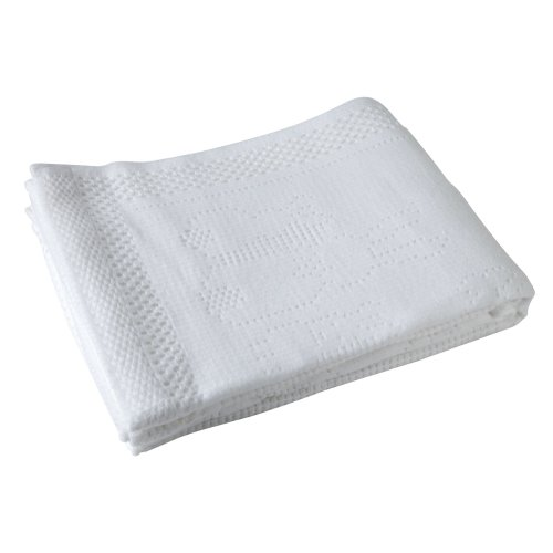 Cellular Baby Blanket White 100/% Cotton Pram Crib Moses  Fast Dispatch!