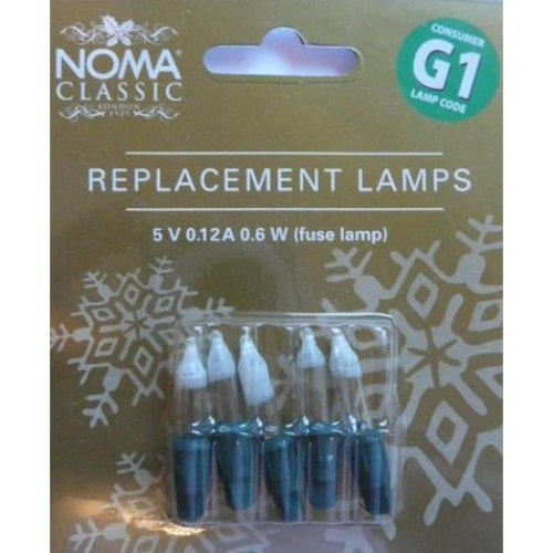 NOMA G1 Replacement Lamps Fuse bulb Blister Card of 5