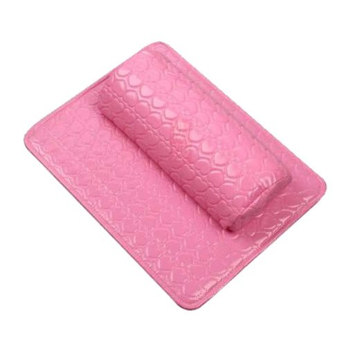 Nail Art Arm Rest Holder PU Leather Soft Hand Cushion Pillow & Pad Rest Pink
