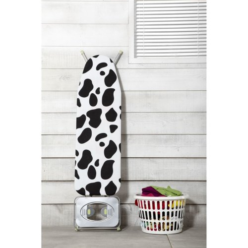 JML FastFit Ironing Board cover Heat-Reflecting Ironing Board Cover 139 x 49 cm - Cow Print