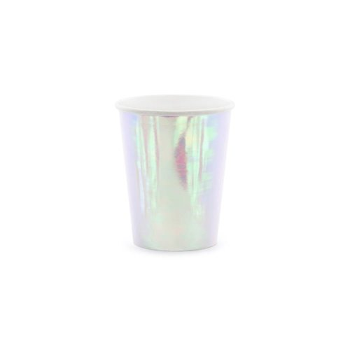 Paper Party Cups Iridescent 220ml x 6