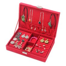Jewelry Box Necklace Organizer Rings Display Earrings Storage Case-C04