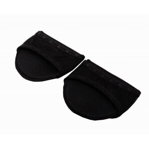 3 Pairs Forefoot Pads High-heeled Shoes Insoles Cushions Fish Head Black