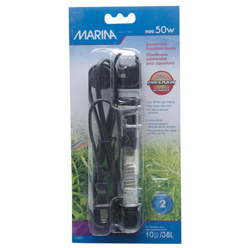 Marina Submersible Pre-Set Heater Mini 15cm (50w)
